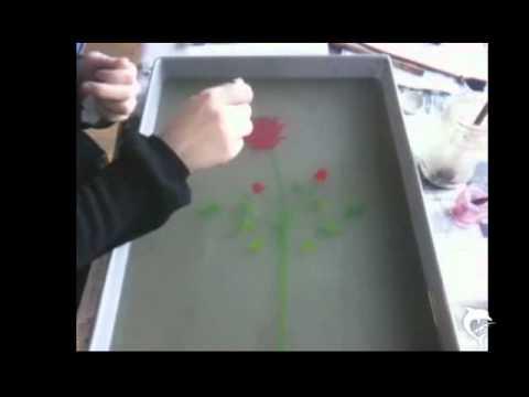 Berlins alte Kunst Ebru Malerei Berlin`s old Art of Water Marbling