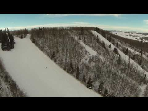 Medicine Lodge Ski Hill, Bentley Alberta,  Aerial View, Hexacopter,FPV, DJI NAZA, Hexacopter