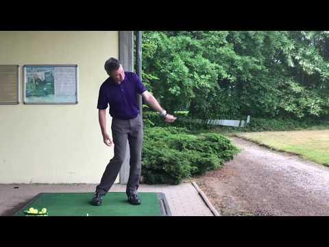 Practicing the Setup 4 Impact golf swing video. Rainy day drills on the range.