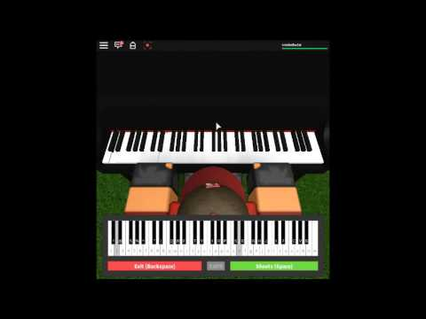 Roblox Playing The Circus Galop On The Piano Café Piano Sheet