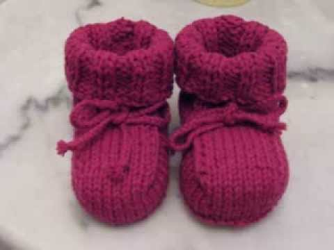 Easy Baby Booties Knitting Youtube