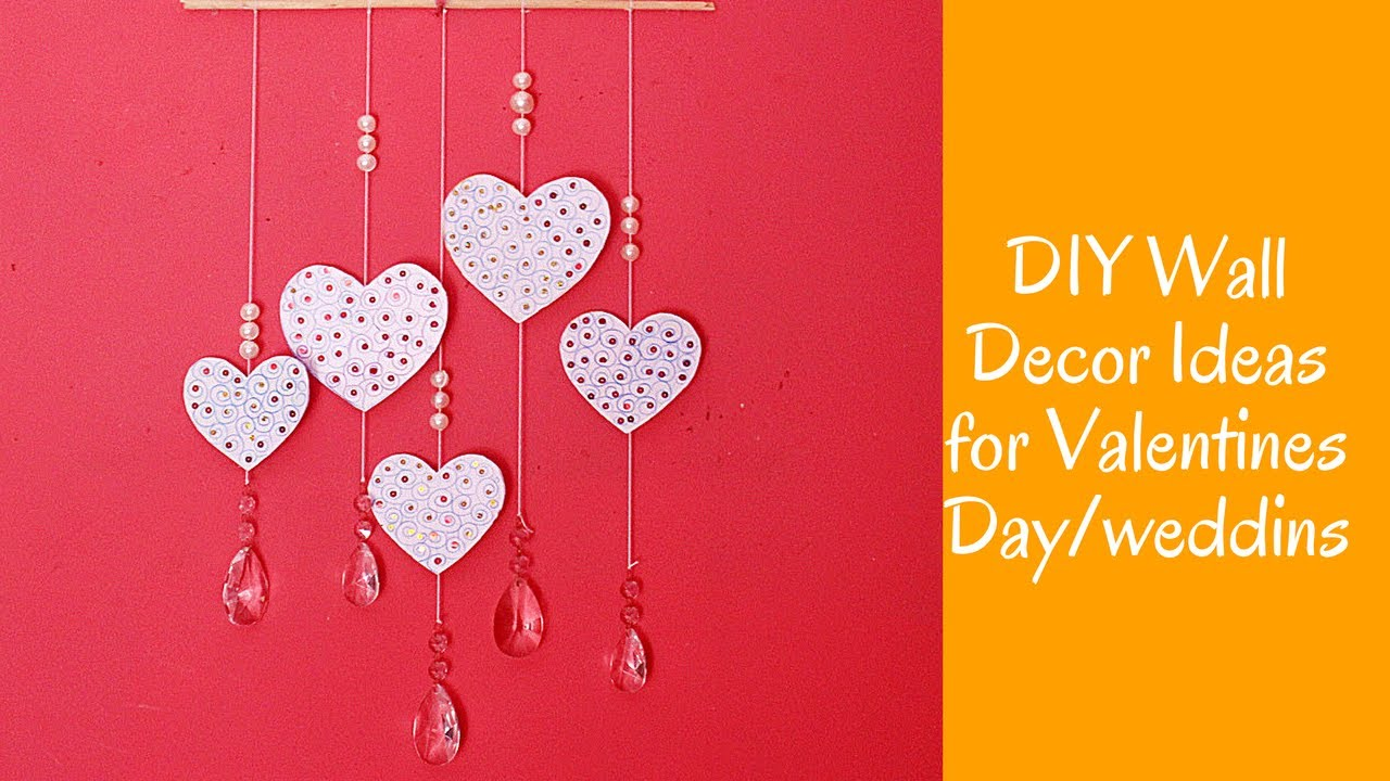 diy wall decor ideas for valentines dayweddings heart decors in living room crafts for girls