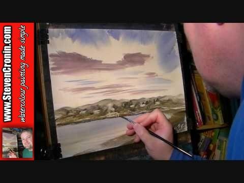 Inverkirkaig, Scotland Part 2 of 2 Watercolor Landscape Painting Tutorial