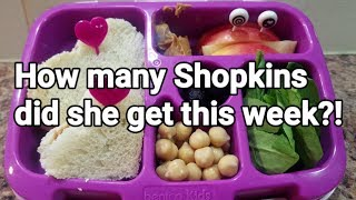 Week 37 - What She Ate - School Lunches - Bento Box Style - Kindergarten Lunches - Before And After