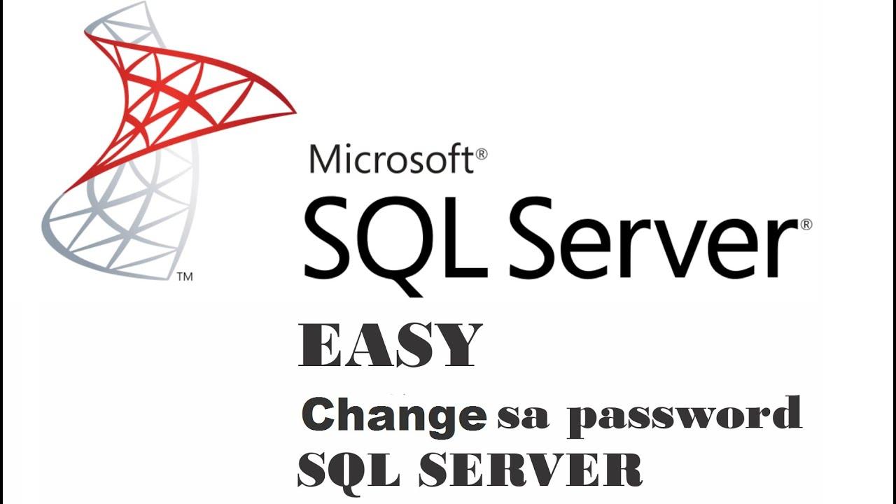 sql server 2017 express change sa password