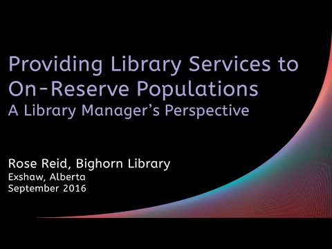 Providing Library Services to On Reserve Populations: A Library Manager's Perspective