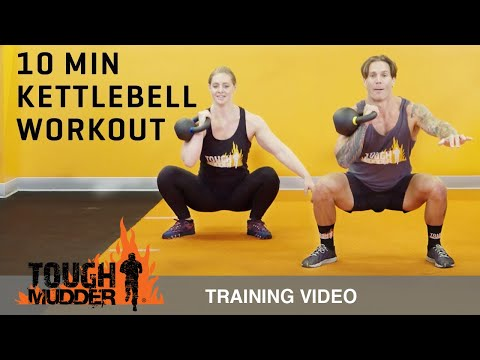 10 Min Kettlebell Workout for Fat Loss and Strength Training Ep. 3 | Tough Mudder
