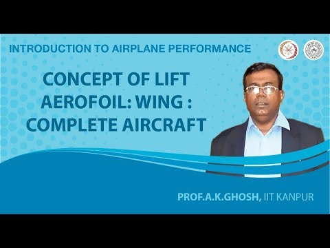 Concept of Lift Aerofoil: Wing : Complete Aircraft