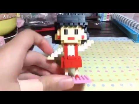 Girl Building Blocks - Wholesale Plastic Cartoon Intellect Toy