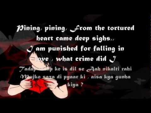 Tadap Tadap Ke: With Lyrics In English..(Krishna Kumar Kunnath)