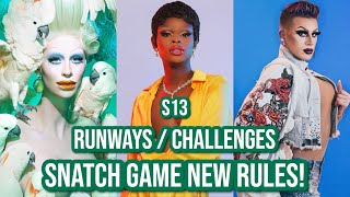 Season 13 | NEW Tea & Spoilers.... Snatch Game Rules CHANGED?