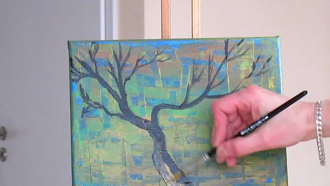 Tanja Bell Abstract Art How To Paint Tree Branches