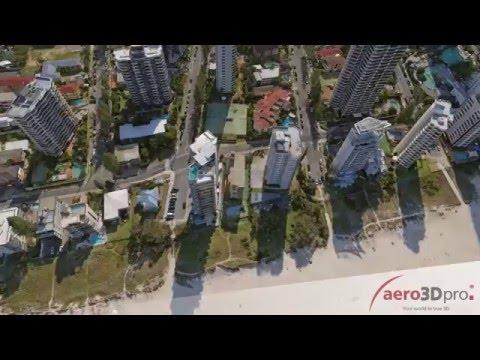 Gold Coast 3D city model - Part1 - aero3Dpro