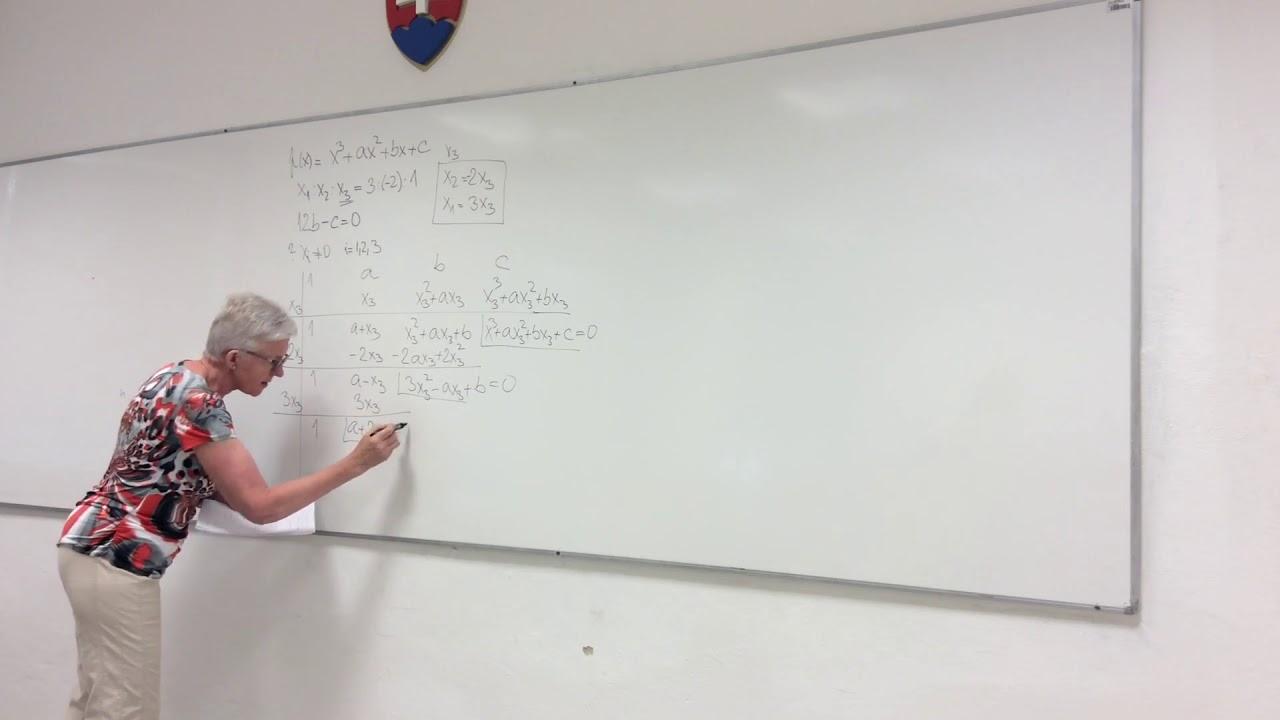 30 Hľadanie koreňov polynómu - korene musia spĺňať danú podmienku