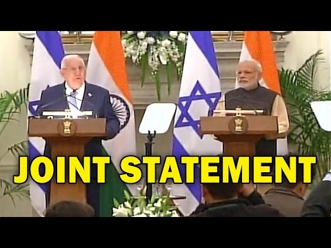 Joint Statement By PM Modi And Israeli President Reuven Rivlin | Full Speech
