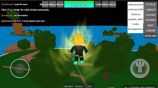 Playing Roblox Dragon Ball z Rage