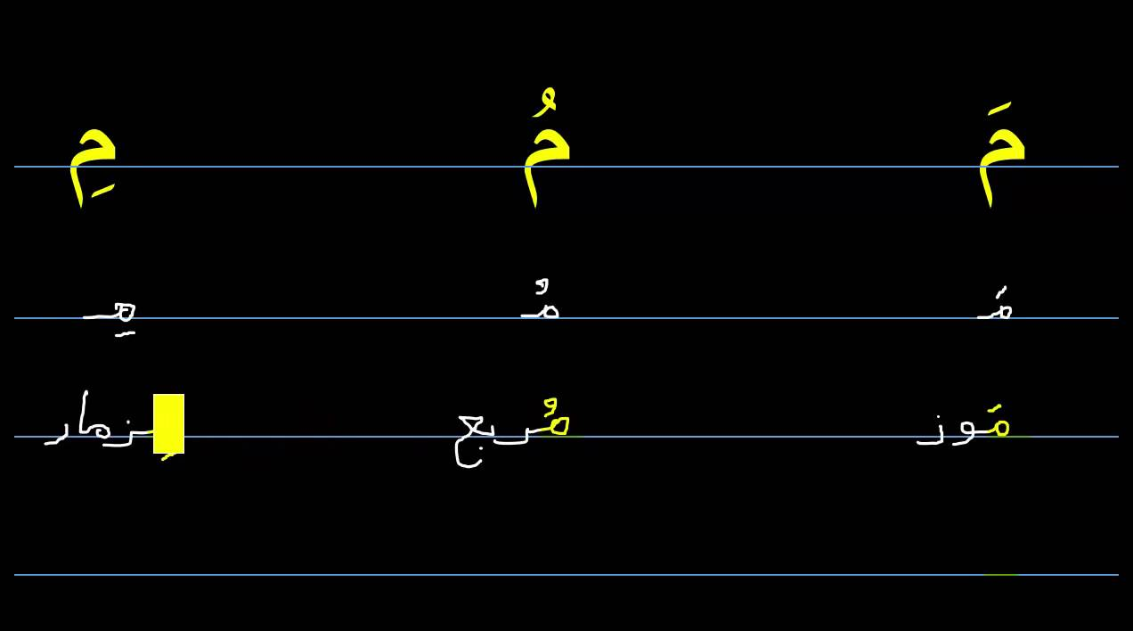 How to write arabic letter meem