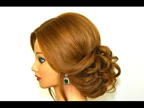 Romantic Hairstyle For Long Medium Hair Easy Updo Tutorial