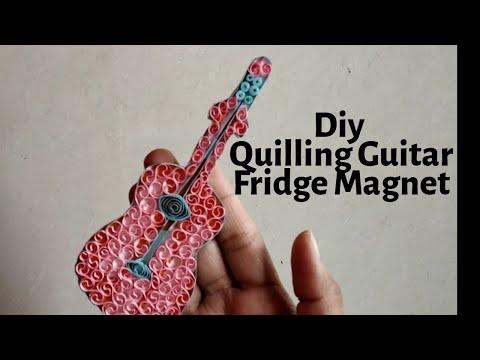 Quilling Guitar / DIY Quilled Guitar / Quilling fridge magnet