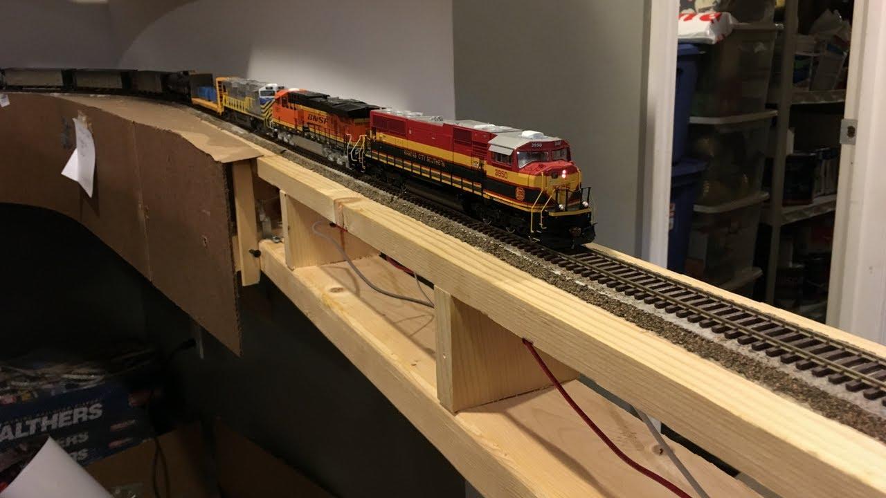 model railroad drop bridge overview wiring construction [ 1280 x 720 Pixel ]