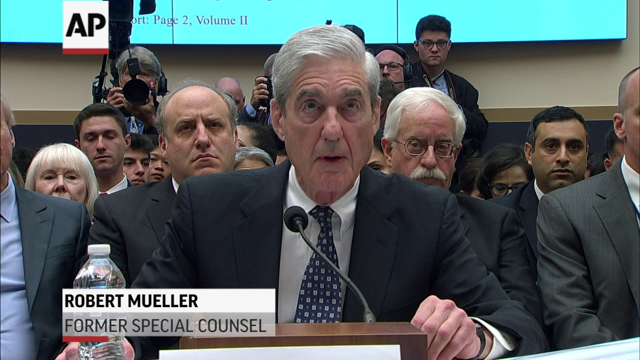 In dramatic testimony, Robert Mueller says he did not