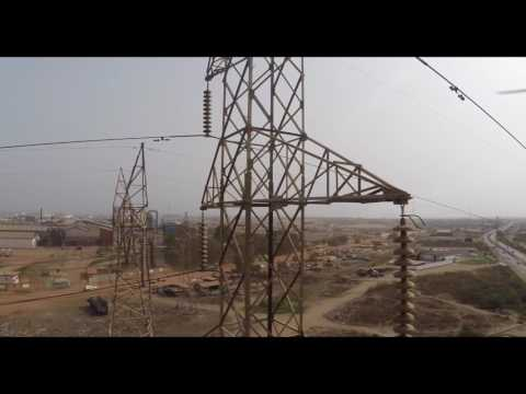 Drone UAV Aerial Inspection of Cell tower, Power line at GRIDCO Ghana