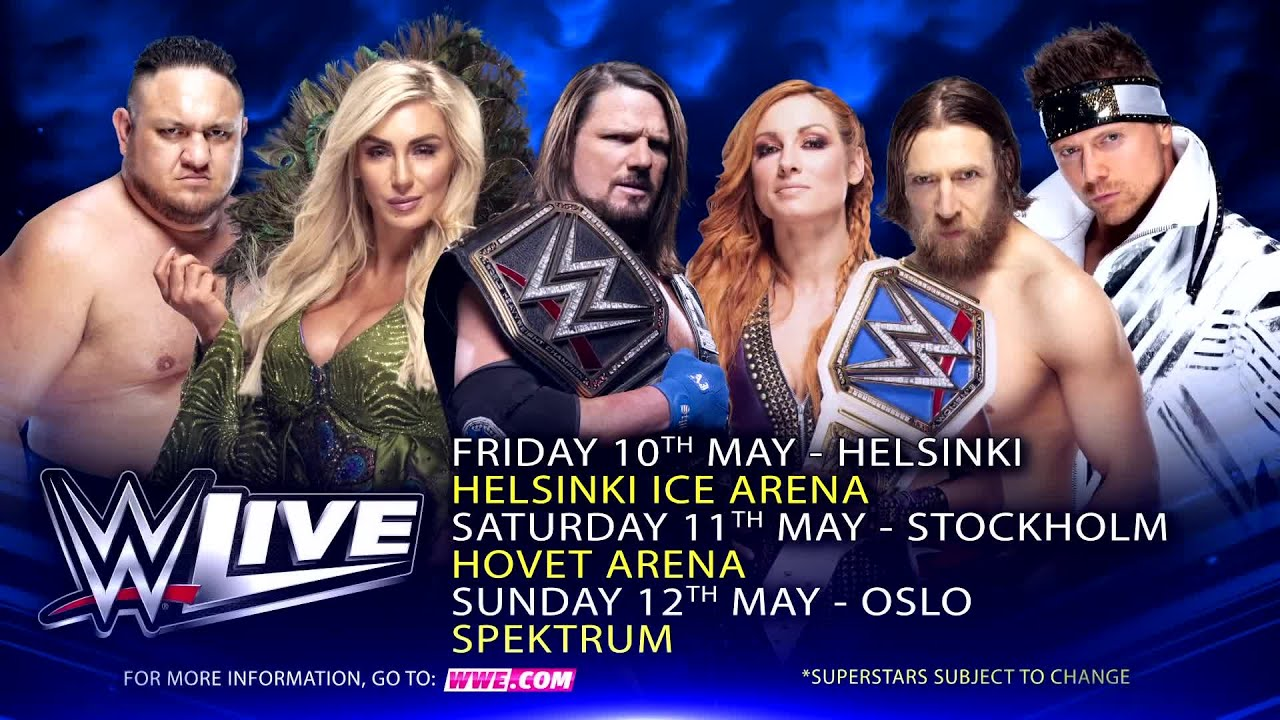 WWE Live storms the Nordics this May