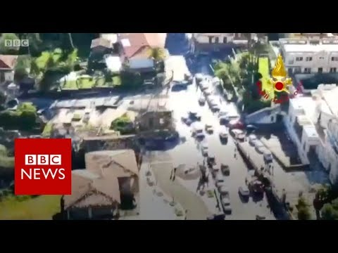 Mount Etna: Aerial footage shows damage from Italy quakes - BBC News