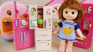 Baby Doll refrigerator and Kinder joy toys with Pororo