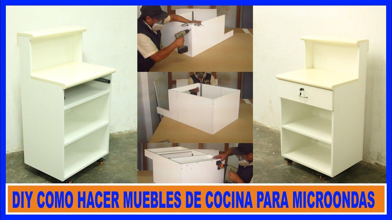 Como hacer muebles de cocina melamina mueble para for Muebles de cocina para microondas