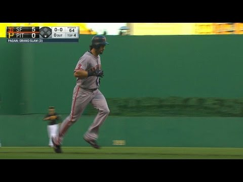 Pagan hits a grand slam to center field