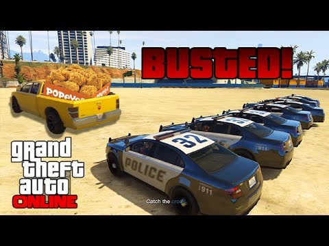 GTAV Online - ps3 - BUSTED! & Races: Sponsored by Popeyes Chicken! - 5/16/14