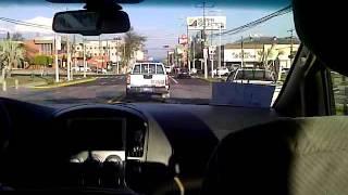 Policia del Salvador Escolta Tavito Bam Bam por las calles de la ciudad
