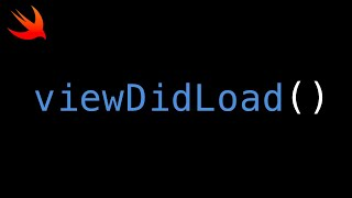 Swift - viewDidLoad() Best Practice Video