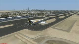 Fsx - Etihad Boeing 787-900 landing in Dubai
