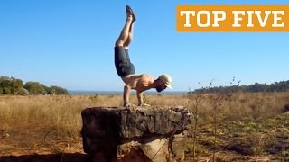 TOP FIVE: Street Workout, Gymnastics & Rubik's Cubing | PEOPLE ARE AWESOME 2016