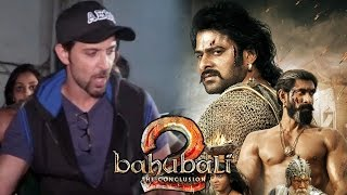 Hrithik roshan watch prabhas baahubali 2 with family