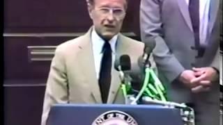 George H.W. Bush at Building Dedication, August 29, 1984