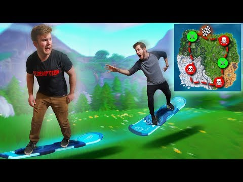 Driftboard Race Across The Map! | Fortnite