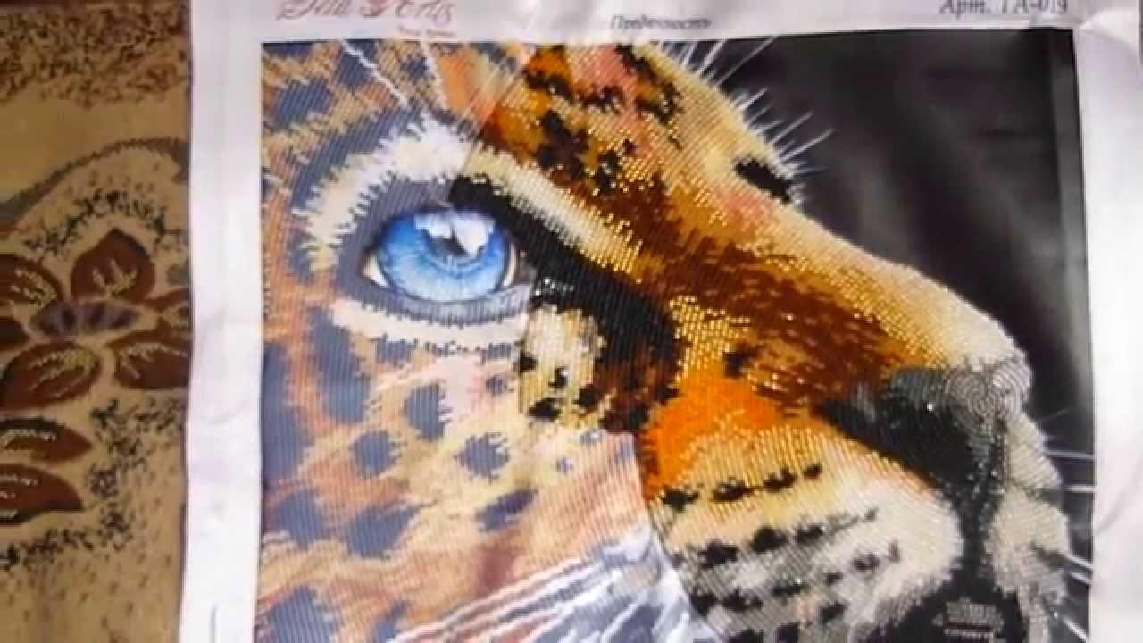 Вышивка бисером схема тигра