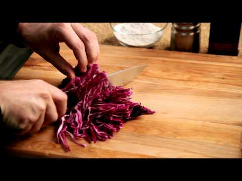 How To Make Fish Tacos - #15 - Slicing The Red Cabbage — Appetites®