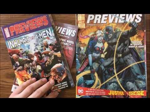 October 2016 Comics Previews for December 2016 - Previews Episode X