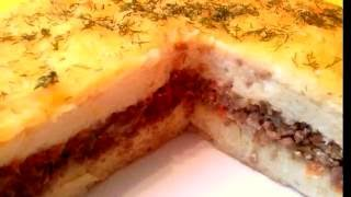 Картофельная запеканка с мясным фаршем