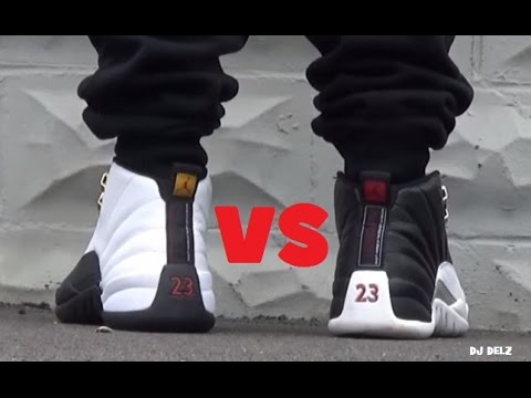 new product 4491f 06432 Air Jordan 12 Taxi VS Playoff XII Shoes #PickOne Battle