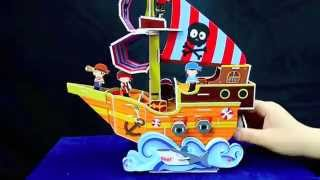 Little Bean - Create Your Own Moving 3d Pirate Ship (regular Size)