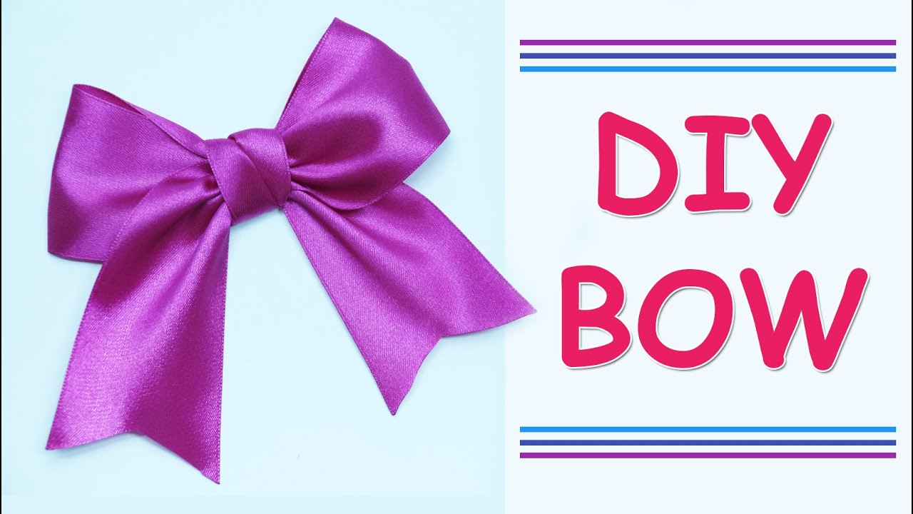 Uncategorized Make Ribbon Bow diy make simple easy bow of satin ribbons how to a ribbon julia beauty and easy