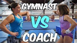 Gymnast VS Coach Gymnastics Competition ~ Bars  Rachel Marie