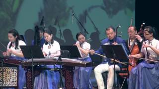 A Chinese performance by Chen Li and a Chinese Folk Music Group. 百...