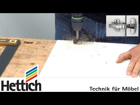 Installation of cup hinges using BlueJig hinge drilling templates