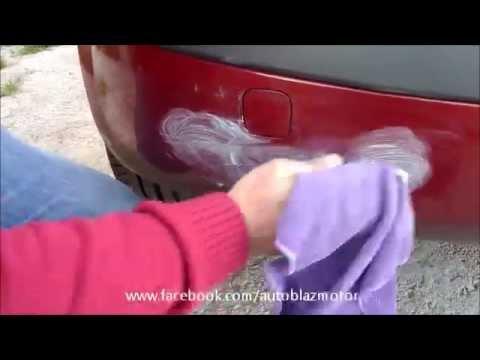 Arañazos del auto con pulimento